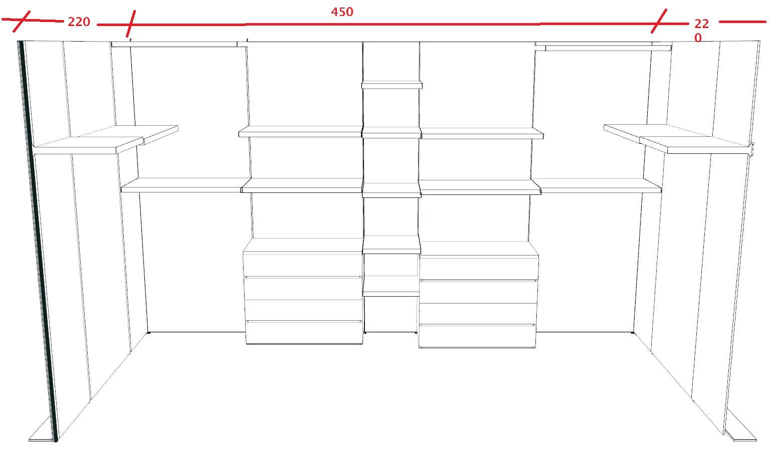 Cabina armadio Boiserie | stanza armadio in legno